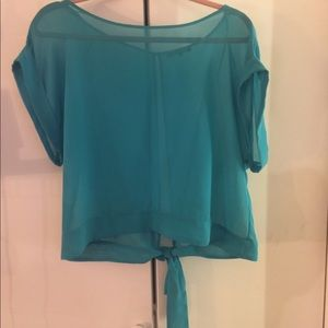River Island Tie Back Sheer Blouse